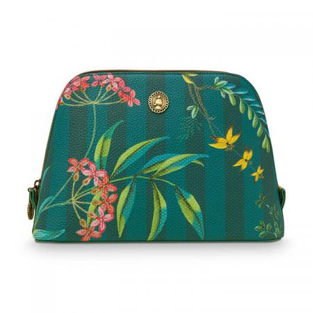Pip Studio Toilettas Cosmetic Bag Triangle Fleur Grandeur Green