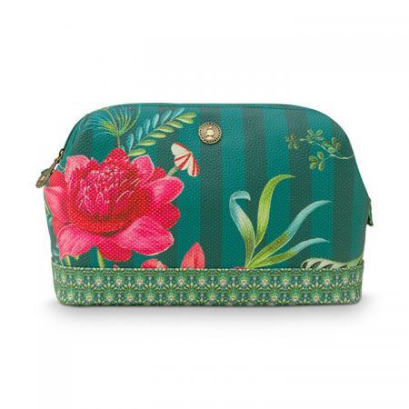 Pip Studio Toilettas Cosmetic Purse Large Fleur Grandeur Green