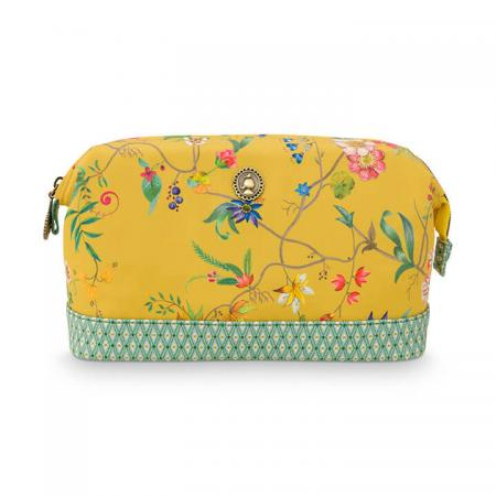 Pip Studio Toilettas Cosmetic Purse Medium Petites Fleurs Yellow