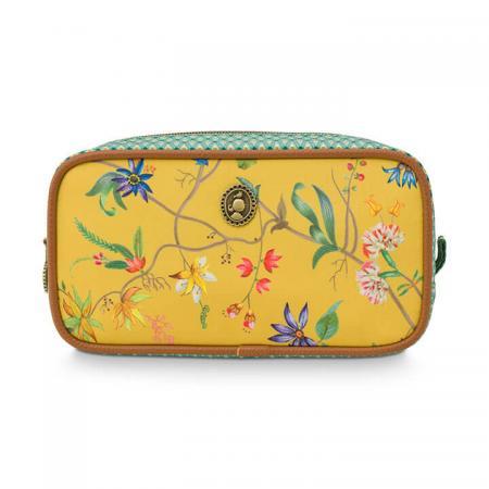 Pip Studio Make Up Tasje Cosmetic Bag Small Petites Fleurs Yellow