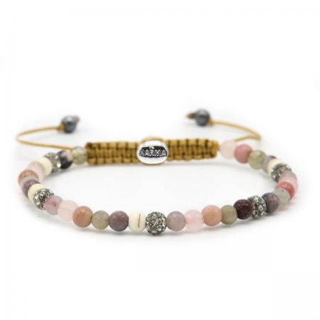 Karma Armband Spiral Secret Summer Grey Crystal