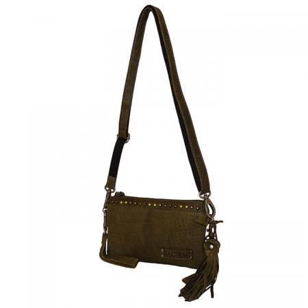 Bag2Bag Schoudertas / Clutch Pedy Olijf