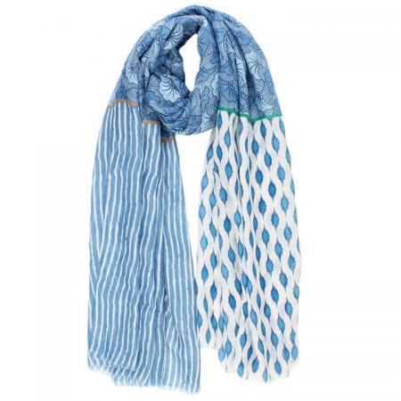 Langwerpige Sjaal Geraldina Blauw