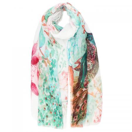 Langwerpige Sjaal Feline Multi Kleur