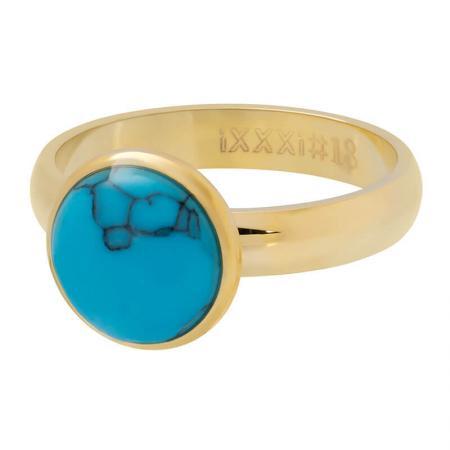 iXXXi Vulring 1 Stone Blue Turquoise Goud