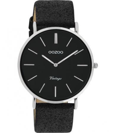 OOZOO Timepieces Horloge Vintage Glitter Zwart | C20153