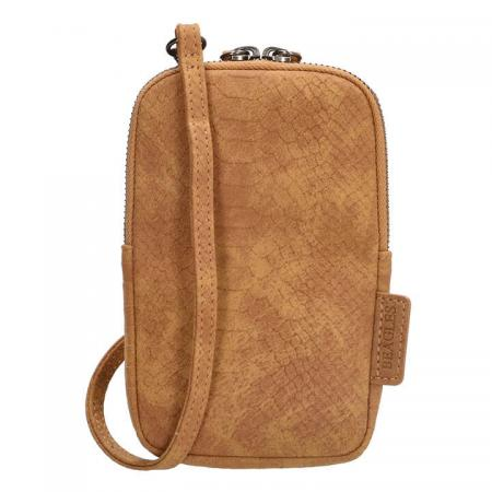 Beagles Phone Bag Telefoontasje Anaconda Cognac