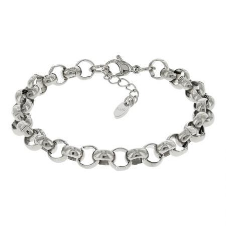 Kalli Schakel Armband Jasseron Zilver | 2522