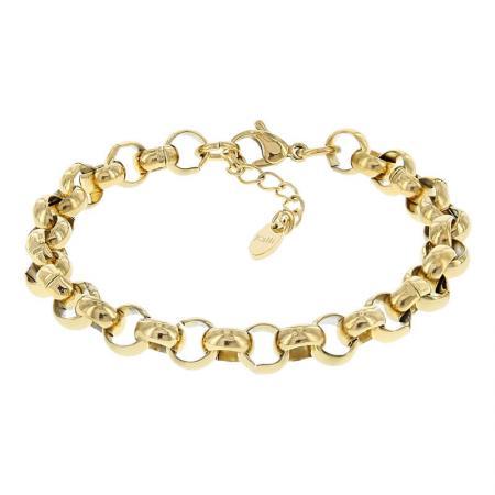 Kalli Schakel Armband Jasseron Goud | 2522