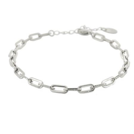 Kalli Schakel Armband Open Zilver | 2608