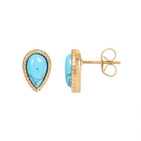 iXXXi Oorbellen Magic Turquoise Goud