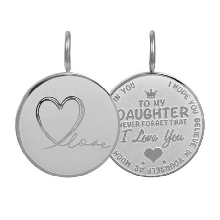 iXXXi Charm Pendant Daughter Love Small Zilver