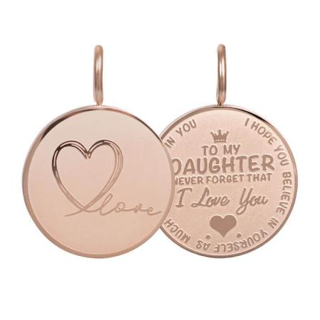 iXXXi Charm Pendant Daughter Love Small Rosé