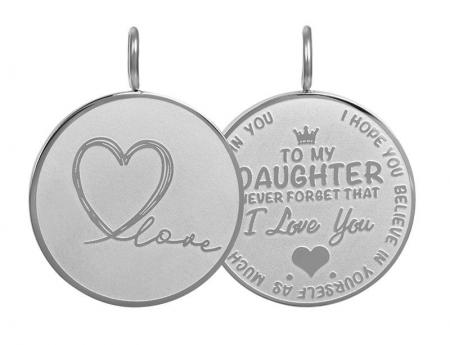 iXXXi Charm Pendant Daughter Love Big Zilver