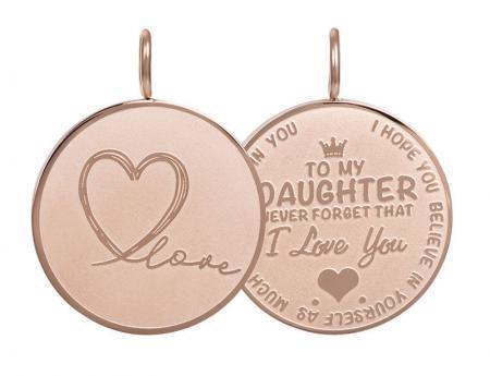 iXXXi Charm Pendant Daughter Love Big Rosé