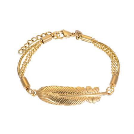 iXXXi Armband Feather Goud