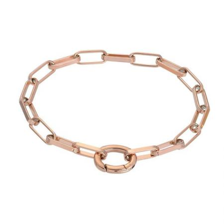 iXXXi Schakel Armband Square Chain Rosé