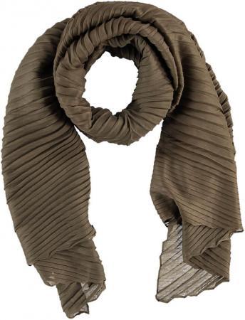 Sarlini Langwerpige Plisse Sjaal Khaki