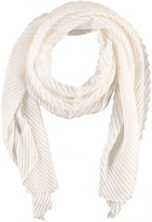 Sarlini Langwerpige Plisse Sjaal Wit