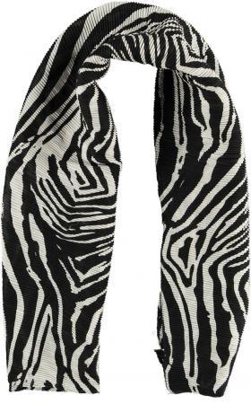 Sarlini Langwerpige Plisse Sjaal Zebra