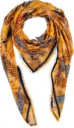 Sarlini Vierkante Sjaal Leopard Geel