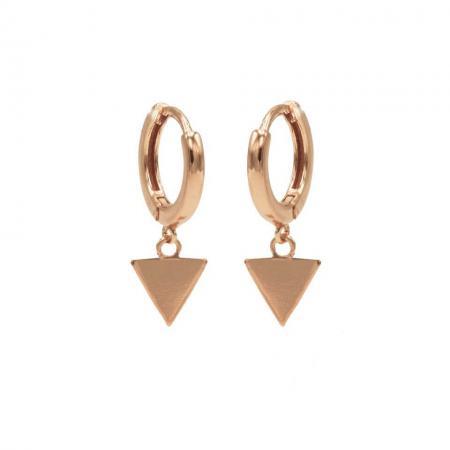 Karma Oorringen Hinged Hoops Triangle Rosé