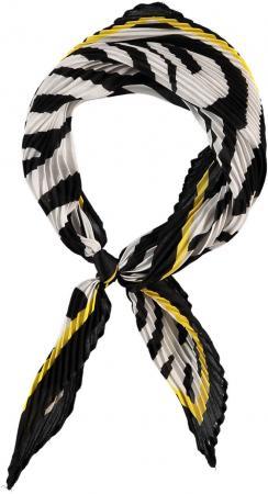Sarlini Plisse Bandana / Kleine Sjaal Zwart/Geel