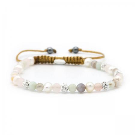 Karma Armband Spiral Jazz White Crystal