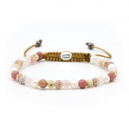 Karma Armband Spiral Pink Sky Rose Crystal