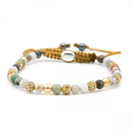 Karma Armband Spiral Little Floral Gold Crystal