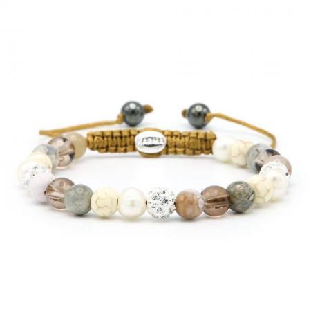 Karma Armband Spiral Canada White Crystal