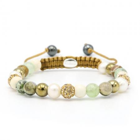 Karma Armband Spiral Venna Gold Crystal