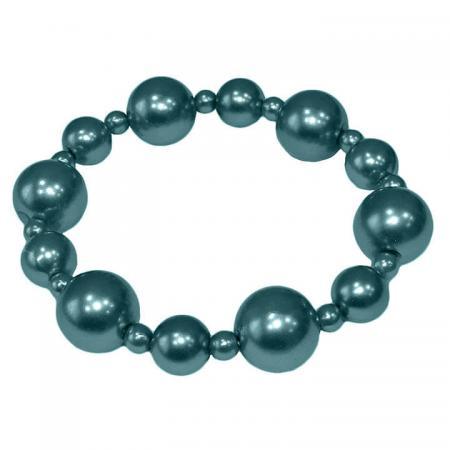 Parel Armband Donker Turquoise
