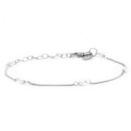 Karma Armband Pearls Zilver