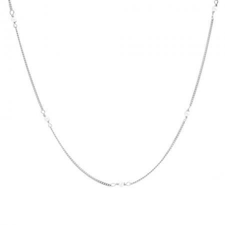 Karma Ketting Tiny Pearls Zilver