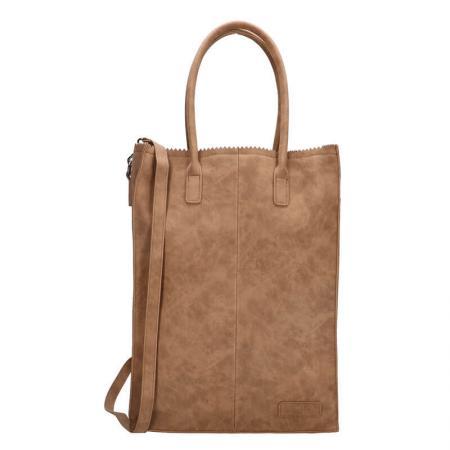 Zebra Trends Shopper Natural Bag Rosa XL Camel