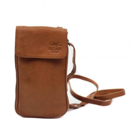 Bear Design Phone Bag Ahana Telefoontasje Cognac
