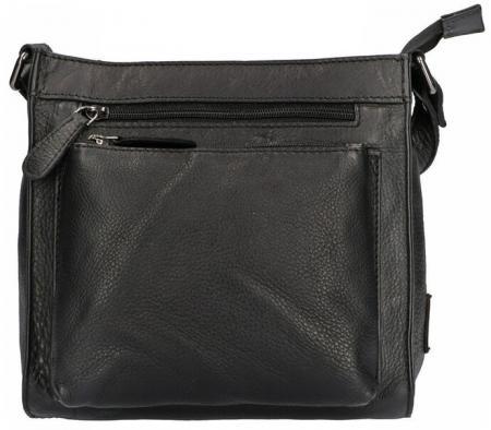 Leather Design Vierkante Schoudertas Nappa Zwart