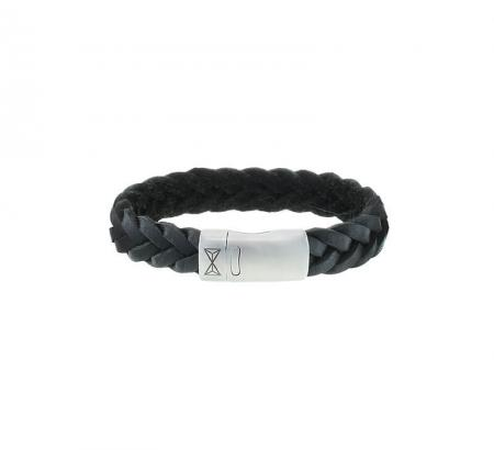 AZE Jewels Armband Iron Big Wave Black