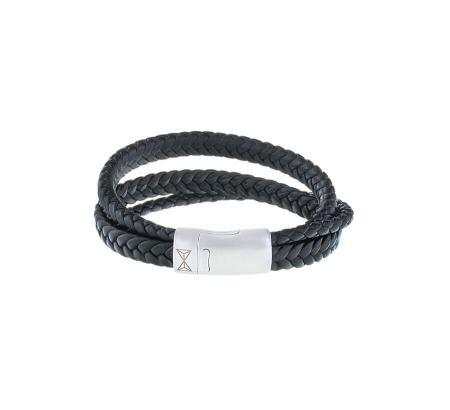 AZE Jewels Armband Iron Three String Black