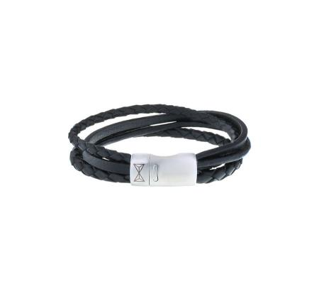 AZE Jewels Armband Iron Four String Black