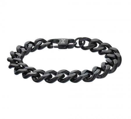 AZE Jewels Armband Gourmette Full Flat Noir