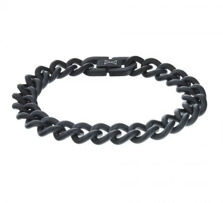 AZE Jewels Armband Gourmette Satin Noir