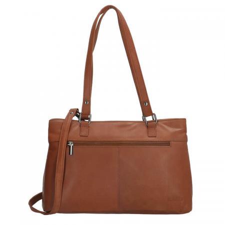 Beagles Leather Handtas / Schoudertas Santa Lucia Cognac