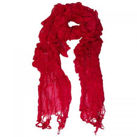 Langwerpige Sjaal met Franjes Dancing Rood