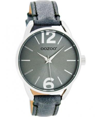 OOZOO JR Horloge Croco Aquagrijs | JR282