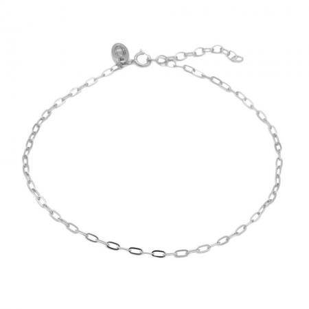 Karma Enkelbandje Oval Chain Zilver