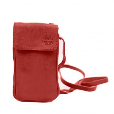 Bear Design Phone Bag Ahana Telefoontasje Rood