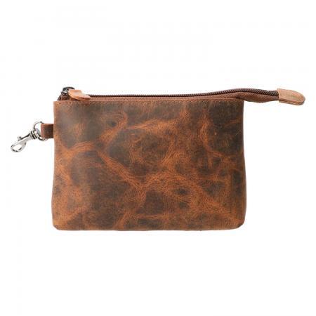 Leather Design Leren Make Up / Pen Etui Hunter Bruin