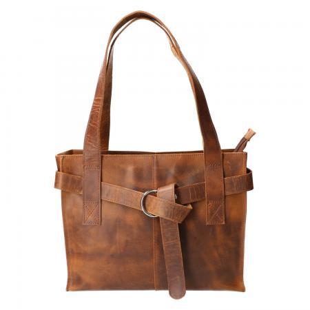 Revival by Leather Design Handtas Hunter Bruin